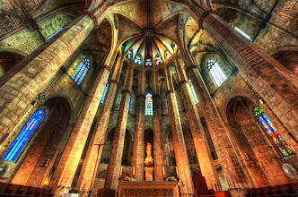 Photo: María del Mar Cathedral - Barcelona - Spain  Here is another amazing place in Barcelona, Spain -- this is the famed Santa María del Mar Cathedral.  from the blog www.stuckincustoms.com