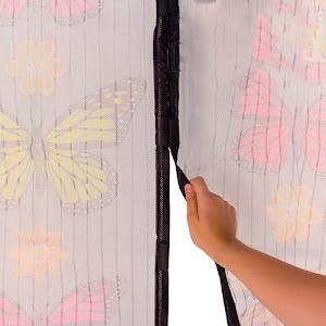 Perdea magnetica anti insecte 210 x 100 cm - model fluturi