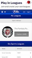 Screenshot of Sky Sports Fantasy Football
