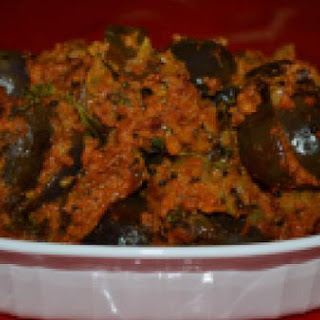 Stuffed Brinjal Curry.
