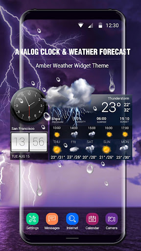 Weather Forecast with Analog Clock  screenshots 1