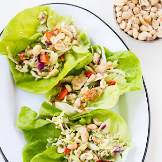 Asian Chicken Lettuce Wraps.