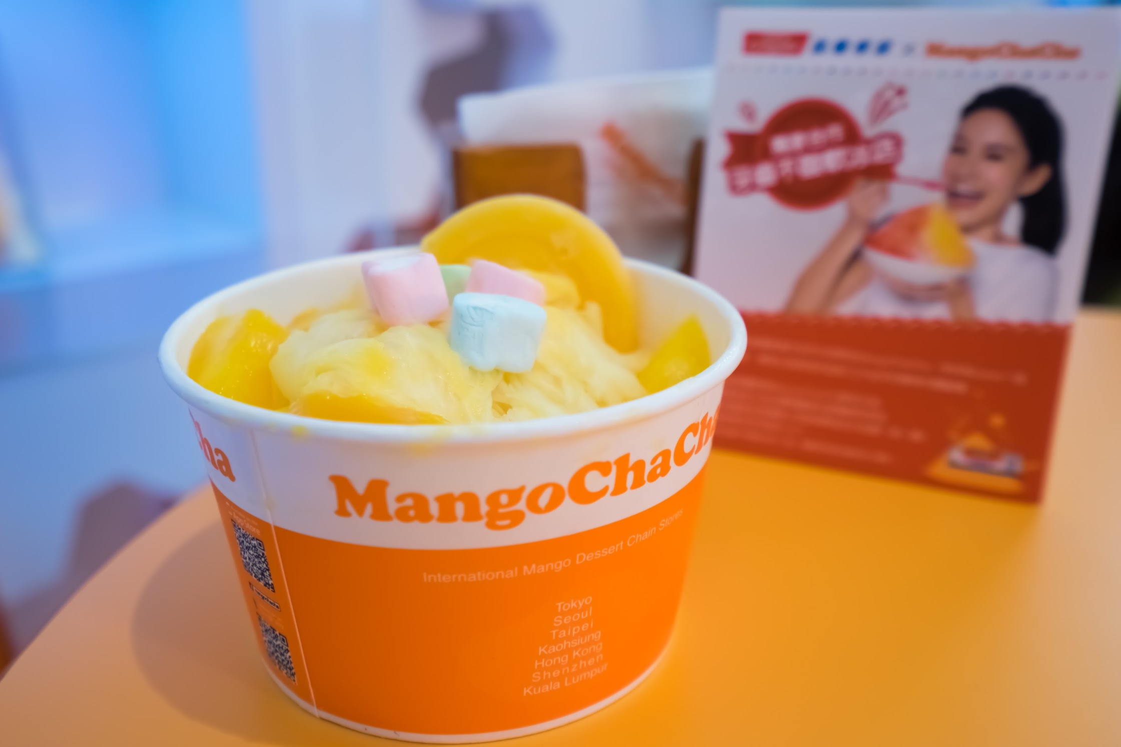 Taipei 101 ice shavings with mangoes