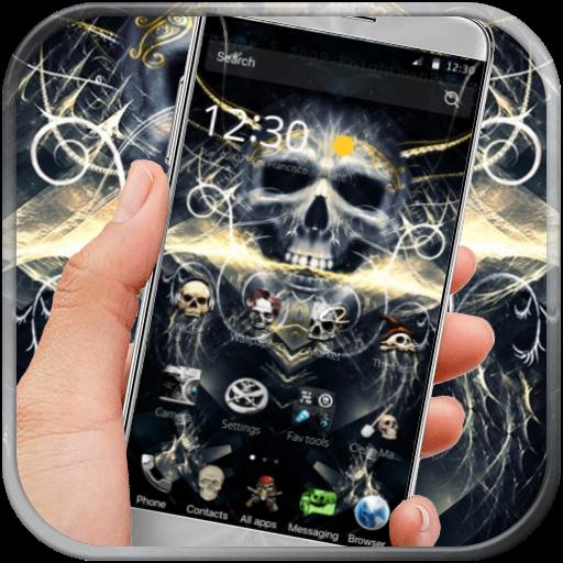 skull dark  hell theme