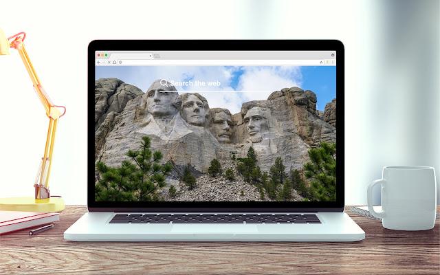 Mount Rushmore New Tab Theme