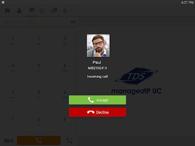 TDS managedIP Hosted Tablet UC screenshot 9