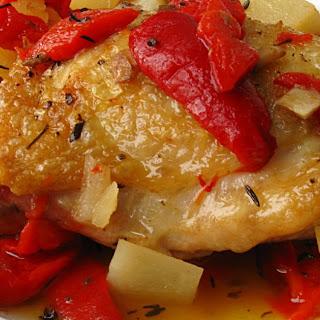 Garlicky Chicken in Red Pepper Sauce