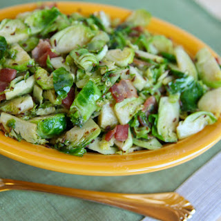 Stir-fried Brussels Sprouts with Bacon and Caraway Seeds