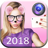 Snap Face Photo Editor: Cute Cat Face Sticker 2018