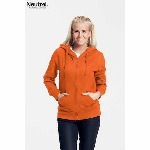 Neutral Ladies Zipped Hoodie Berry