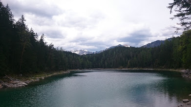 Photo: arrived at lake eibsee after 40 - 50 minutes walk
