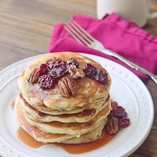 Tart Cherry Greek Yogurt Pancakes with Tart Cherry Maple Syrup Recipe