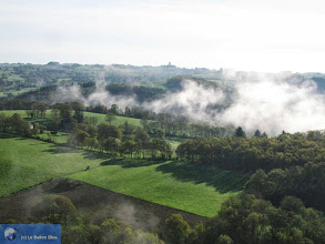 Photo: Fog evaporates over the Combrailles, Auvergne, France