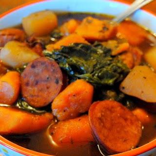 Southern Sweet Potato & Sausage Stew.