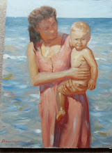 Photo: MotherÕs Love Ð Original oil painting by Randall Browning, a well known Dallas portrait artist, depicting a tender moment of MotherÕs love to remind us of that enduring bond, 18x24