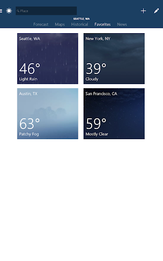 MSN Weather - Forecast & Maps 1.2.0 screenshots 8