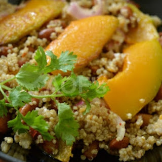 Pumpkin Kidney Beans and Quinoa Salad.