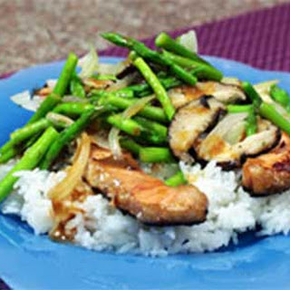 Teriyaki Salmon with Asparagus and Shiitake