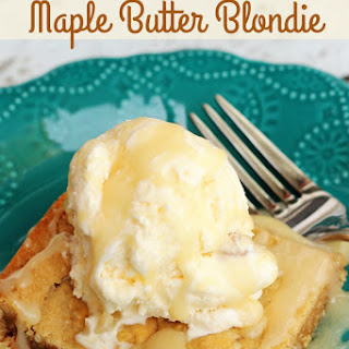 Our Version of Applebee's Maple Butter Blondies
