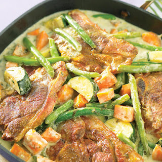 Lamb with Coconut Vegetables.