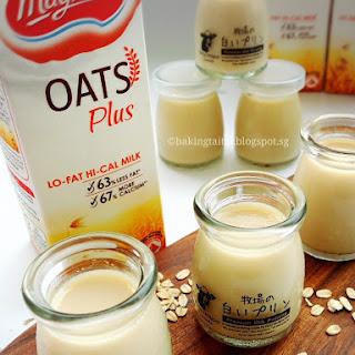 Healthy Oat Milk Pudding.