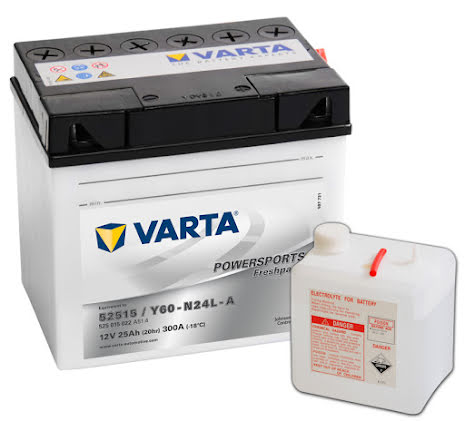 Mc Batteri 25Ah Varta Y60-N24L-A