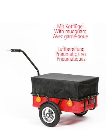 Transportvagn Bike Trailer Easy med 25cm Kullagrade Luftdäck