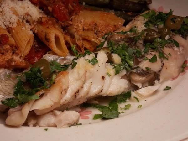 Mediterranean Grouper With Lemon-caper Wine Sauce Recipe