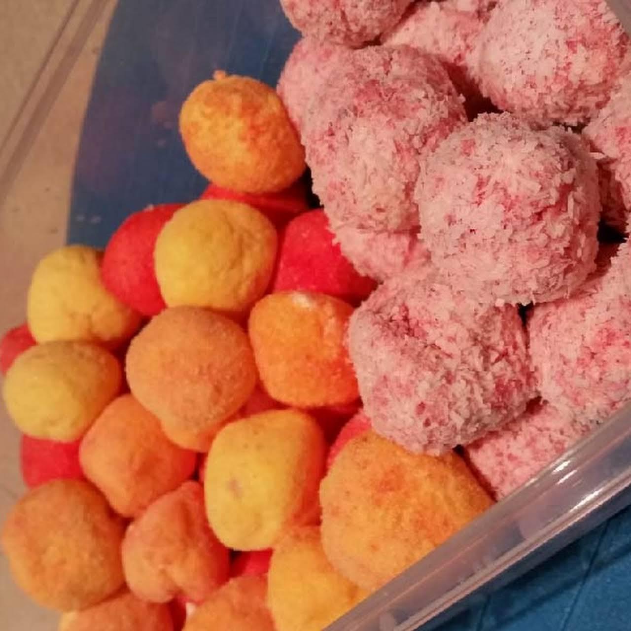 Coconut Cream Cheese Jelly Balls