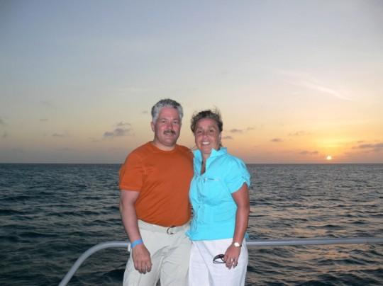 Romantic Sunset in Aruba