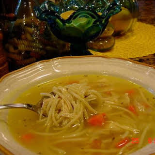 ALMOST CAMPBELL'S CHICKEN NOODLE SOUP -- BONNIES.