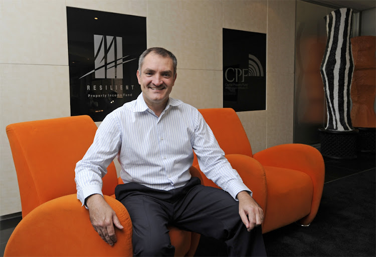 Resilient Property Income Fund CEO Des de Beer. Picture: FINANCIAL MAIL