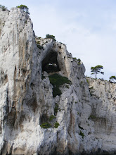 Photo: A grotto in the cliff face.