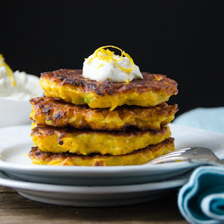 Butternut Fritters With Lemon Chèvre