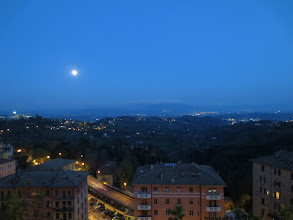 Photo: Looking out from Perugia at night