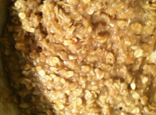 melt the butter. Add butter,corn syrup,vanilla,and cream to oatmeal mixture and combine well