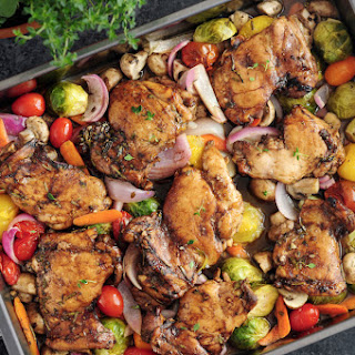 Balsamic Roasted Chicken With Peppers And Onions Recipes