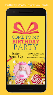 Birthday invitation with photo apps on google play screenshot image stopboris Gallery