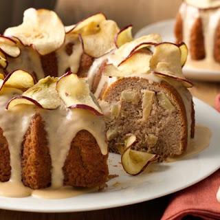 One-Bowl Apple-Spice Bundt Cake with Butterscotch Glaze.