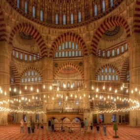 Selimiye Mosque by Mehmed Mestanov - Buildings & Architecture Architectural Detail ( selimiye mosque, selimiye, mosque, turkey, edirne )