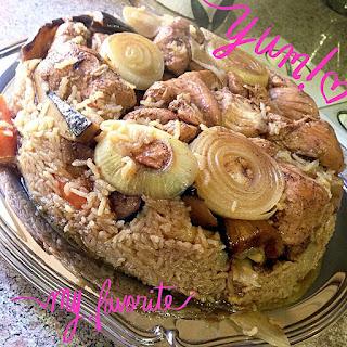 Chicken & Eggplant Maqluba.