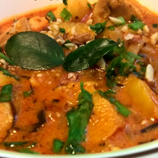 Chicken Curry With Bamboo Shoots.