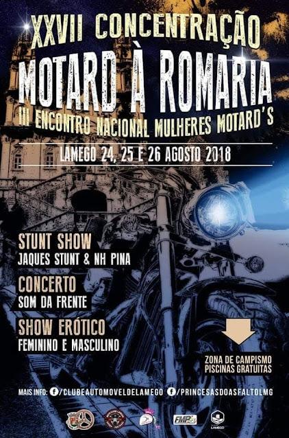 Programa da XXVII Concentração Motard à Romaria - 2018 | 3º Encontro Nacional Mulheres Motards