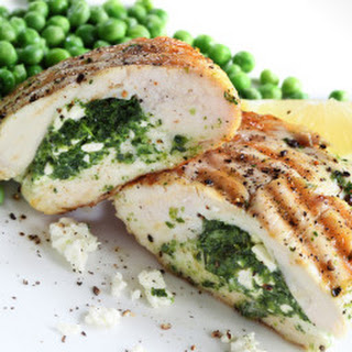 Spinach and Feta Cheese Stuffed Chicken.