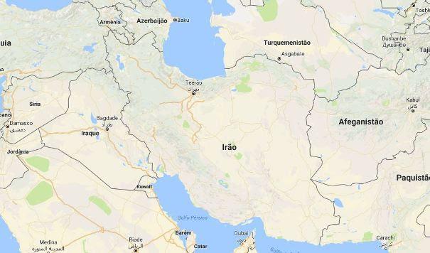 Mapa Irão
