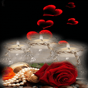 Red Hearts Candles LWP