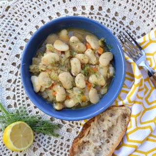 Greek Stewed Lima Beans – Vegan Under Pressure Recipe