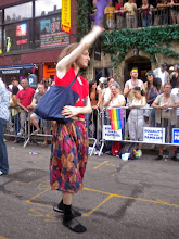 Photo: The Heritage of Pride gay pride march, West 8 Street between MacDougal Street and Avenue of the Americas, Greenwich Village, 26 June 2011. (Photograph by Elyaqim Mosheh Adam.)