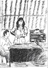 Photo: 看診一2010.12.22鋼筆 「畫瘦一點!」 咱監內的護理師阿年妹妹下了這樣的指令,只是已經很瘦的她要再畫更瘦,豈不成了排骨精?畫完後她一樣給了個短潔有力的評語: 「不像!」