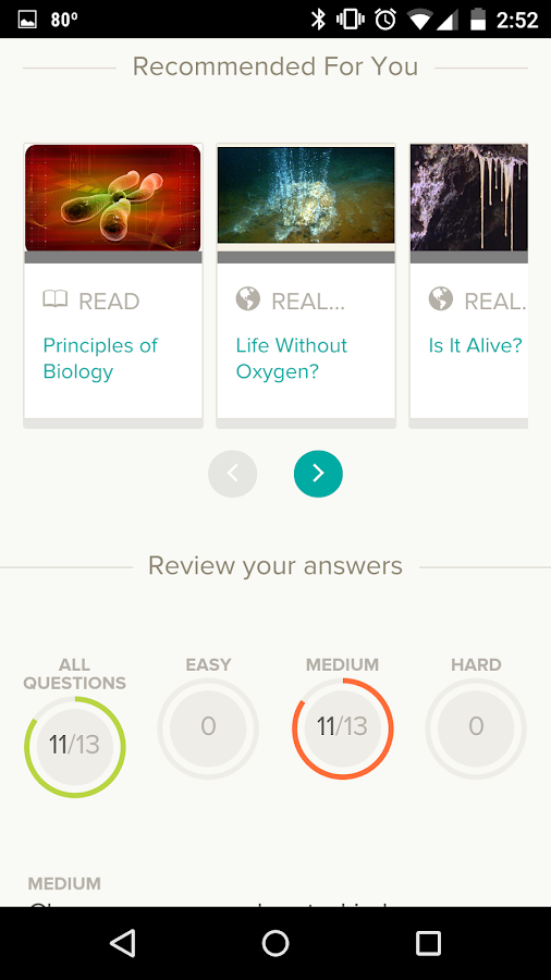 CK-12: Practice Math & Science- screenshot